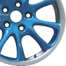 Porsche Blue Laquered alloy wheel finish type