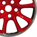 Porsche Red Laquered alloy wheel finish type