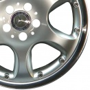 Mercedes Sterling Silver with Stainless Steel Rim Edge alloy wheel finish type