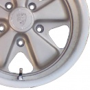 Porsche Silver Unvarnished alloy wheel finish type