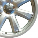Audi Brilliant Silver alloy wheel finish type