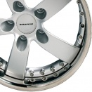Rinspeed Silver with Chrome Ring alloy wheel finish type