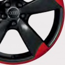 Audi Two Tone Red/Black alloy wheel finish type