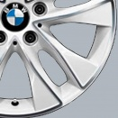 BMW Bicolour: Aspen White with Burnished Face (Bright Turned/Diamond Cut) alloy wheel finish type