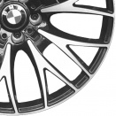 BMW Bicolour: Black with Burnished Face (Bright Turned/Diamond Cut) alloy wheel finish type