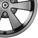 Smart Dark Grey Metallic Matt alloy wheel finish type