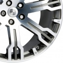 Hawke GMF Gun Metal Full Polish alloy wheel finish type