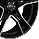 OZ Racing Matt Black - Diamond Cut alloy wheel finish type