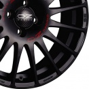 OZ Racing Matt Black - Red Lettering alloy wheel finish type