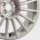 OZ Racing White - Red Lettering alloy wheel finish type