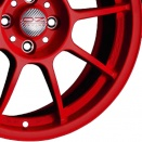 OZ Racing Red alloy wheel finish type
