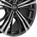 OZ Racing Matt Dark Graphite - Diamond Cut alloy wheel finish type