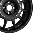 OZ Racing Matt Black - White Lettering alloy wheel finish type