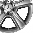 Mercedes Sterling Silver alloy wheel finish type
