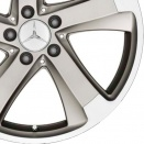 Mercedes Matt Satin Silver alloy wheel finish type