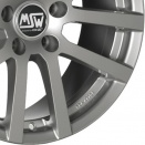 OZ Racing Grey Silver alloy wheel finish type