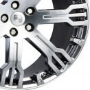 Hawke HPL Niagara Silver Sculpted Edge alloy wheel finish type