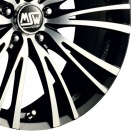 OZ Racing Matt Black Polished alloy wheel finish type