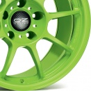 OZ Racing Acid Green alloy wheel finish type