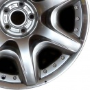 Bentley Silver Painted & Machined alloy wheel finish type