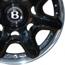 Bentley Black Painted & Polished Rim alloy wheel finish type