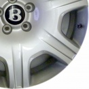 Bentley Silver Painted alloy wheel finish type