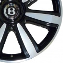 Bentley Black Painted & Machined alloy wheel finish type