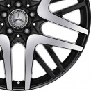 Mercedes High Sheen with Black Two Tone alloy wheel finish type