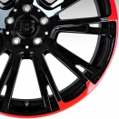 Brabus Gloss Black with Red Edge alloy wheel finish type