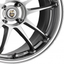 Cades Niagara Silver | Polished Centre Bowl and Ring alloy wheel finish type