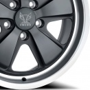 Fuchs Matt Black with Anodised Silver Rim alloy wheel finish type
