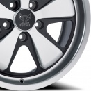 Fuchs Bicolour: Matt Black with anodised silver spokes and rim alloy wheel finish type