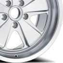 Fuchs Natural: Silk Gloss Anodised Silver (Finish also acts as a base for the colour of your choice)  alloy wheel finish type