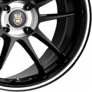 Cades Jet Black | Polished Centre Bowl and Ring alloy wheel finish type