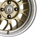 Cades Light Gold with Polished Dish alloy wheel finish type