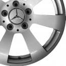 Mercedes Titanium Silver alloy wheel finish type