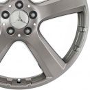 Mercedes High Sheen with Tremolite Metallic alloy wheel finish type