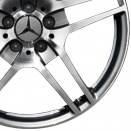 Mercedes High Sheen with Titanium Grey alloy wheel finish type