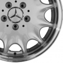 Mercedes Standard Silver with High Sheen Rim Flange alloy wheel finish type