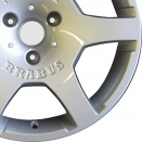Brabus High Gloss Silver alloy wheel finish type