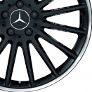 Mercedes Matt Black with High Sheen Rim Edge alloy wheel finish type