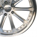 Hartge Silver with Stainless lip alloy wheel finish type