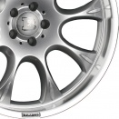 Brabus Silver | Polished Rim alloy wheel finish type