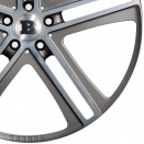 Brabus Forged | High Gloss Polished Surface | Matt Titanium alloy wheel finish type