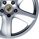 Porsche Silver alloy wheel finish type