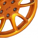 Porsche Orange alloy wheel finish type