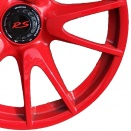 Porsche Guards Red alloy wheel finish type