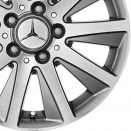 Mercedes Palladium Silver/High Sheen alloy wheel finish type