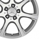 Mercedes Palladium Silver alloy wheel finish type