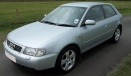 Audi A3 (A4/PQ34) 8L Hatchback/Sportback with original Audi Wheels